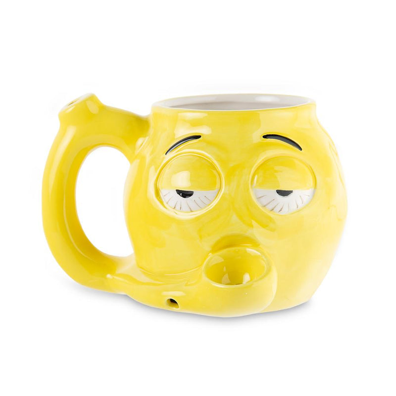 Roast and Toast Ceramic Mug - Stoned Emoji