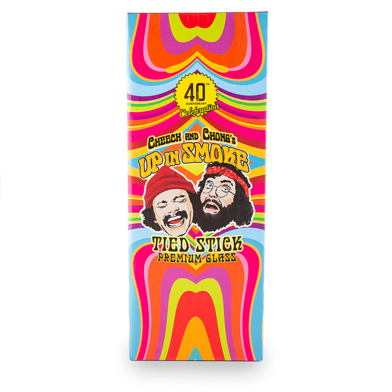 "Famous Brandz Cheech & Chong Water Pipe - Tied Stick - 10"" - Milky Purple"