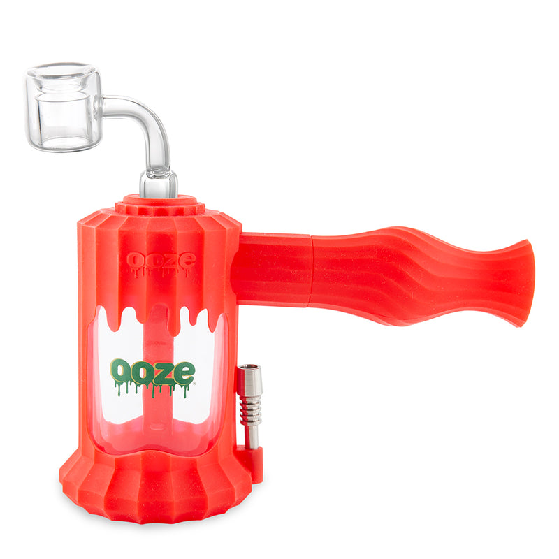 Clobb Silicone Water Pipe & Nectar Collector - Scarlet