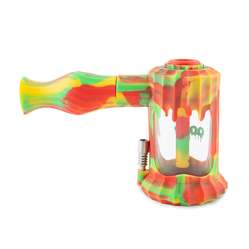 Clobb Silicone Water Pipe & Nectar Collector - Rasta