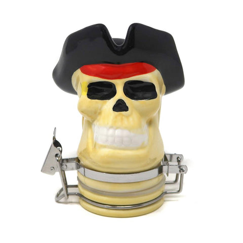 Contained Art - Porcelain Jar - Pirate Skull - 100mL