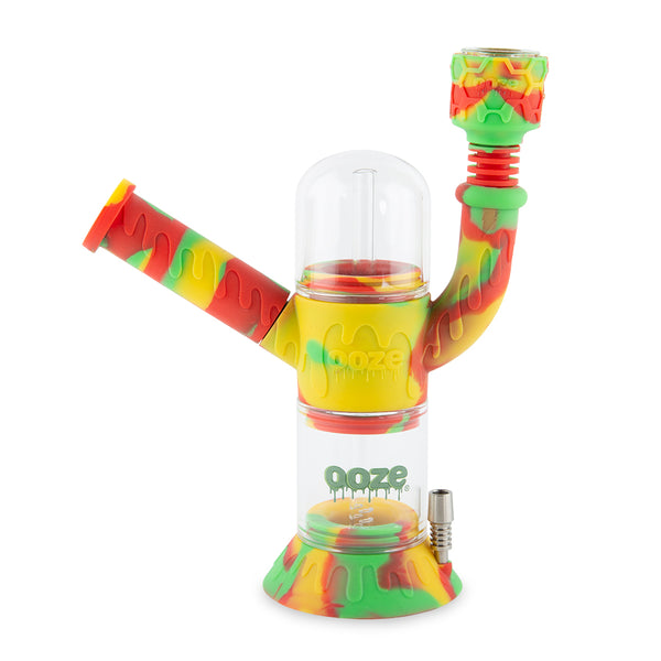 Cranium Silicone Water Pipe & Nectar Collector - Rasta