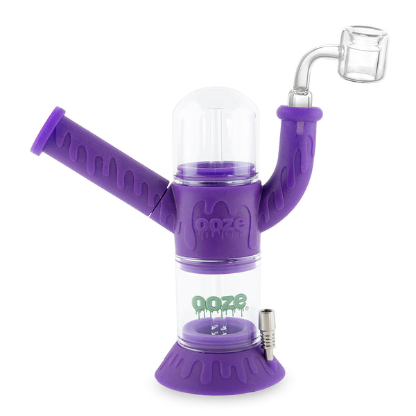 Cranium Silicone Water Pipe & Nectar Collector - Ultra Purple