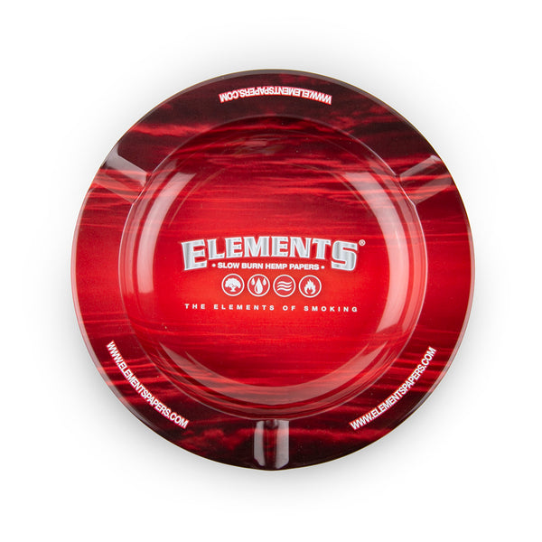 Elements Metal Ashtray - Red - Magnet