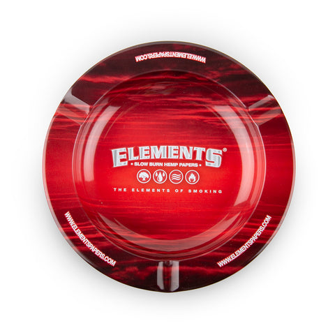 Elements Metal Ashtray - Red
