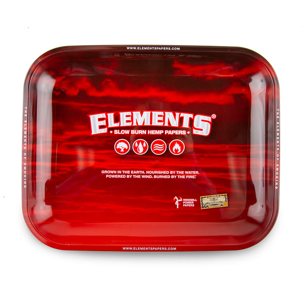 Elements Rolling Tray Red