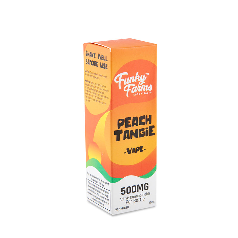 Funky Farms CBD Vape Juice - 500mg - 15ml - Peach Tangie