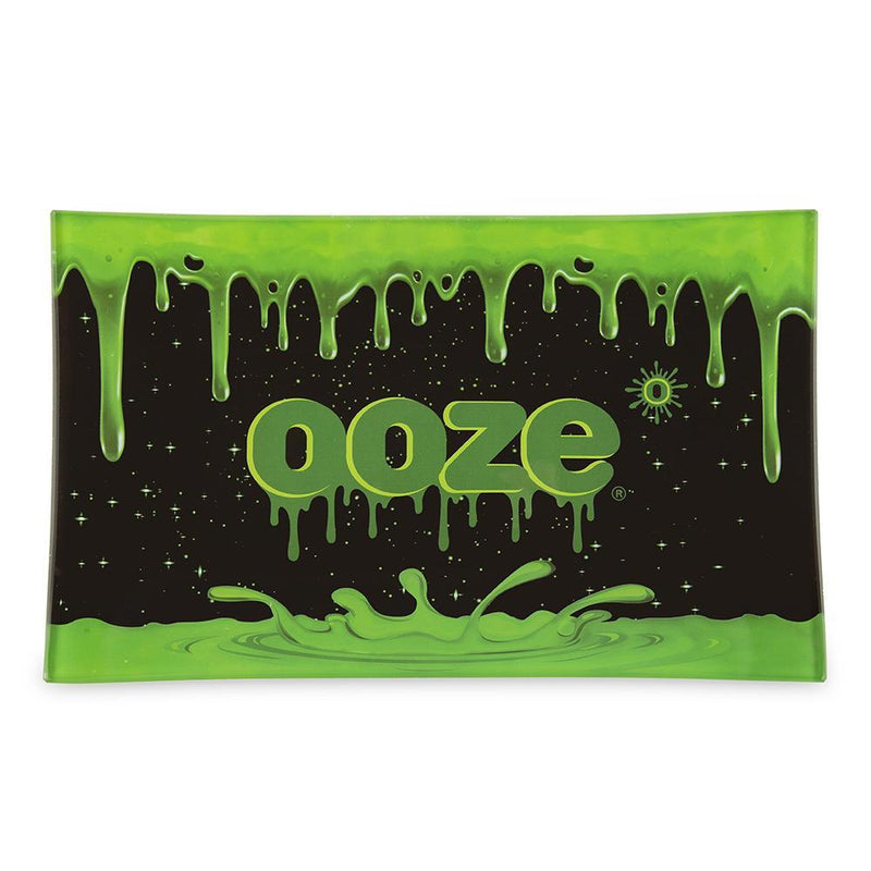 Ooze Rolling Tray - Shatter Resistant Glass Medium