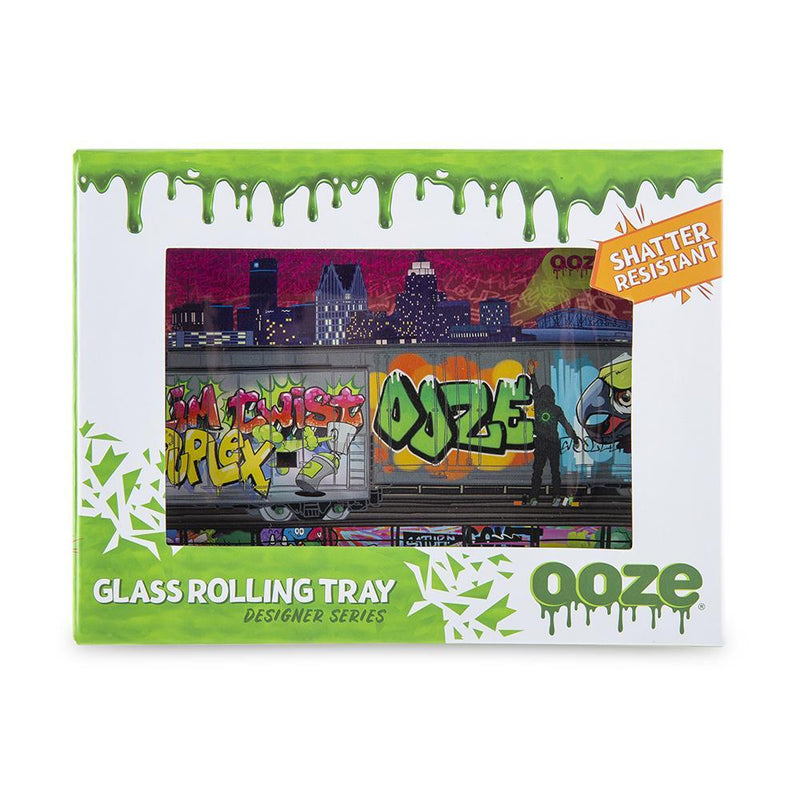 Ooze Rolling Tray - Shatter Resistant Glass Tag