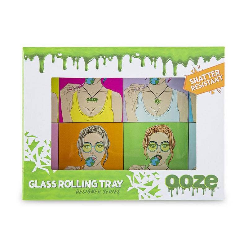 Ooze Rolling Tray - Shatter Resistant Glass Candy Shop