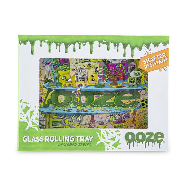 Ooze Rolling Tray - Shatter Resistant Glass Oozeville