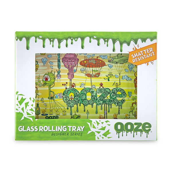 Ooze Rolling Tray - Shatter Resistant Glass The Works