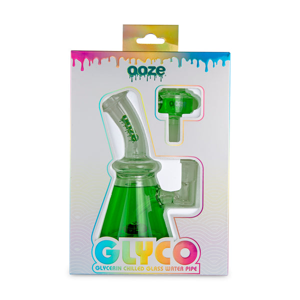 Ooze Glyco Glycerin Chilled Glass Water Pipe - Slime Green