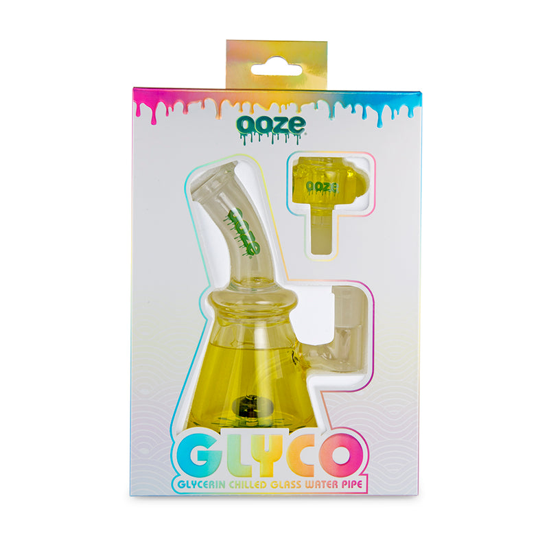 Ooze Glyco Glycerin Chilled Glass Water Pipe - Mellow Yellow