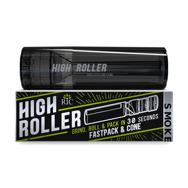 Roll It Highroller - Grinder & Cone Filler - Smoke
