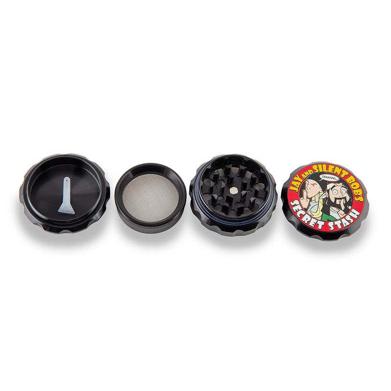 Famous Brandz Grinder - Jay & Silent Bob Secret Stash - 63mm - Black