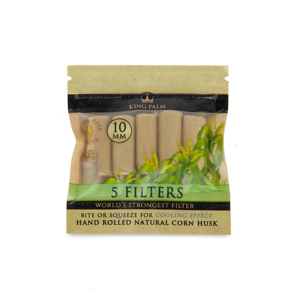 King Palm 5pk Corn Husk Filters 10mm