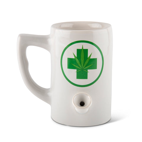 Leaf Porcelain Mug  - White