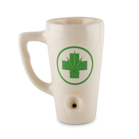 Leaf Porcelain Mug - Tall - White