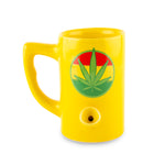Leaf Porcelain Mug - Yellow