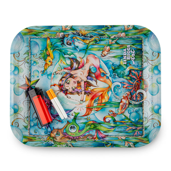 Linda Biggs Rolling Tray - Mermaid - Large