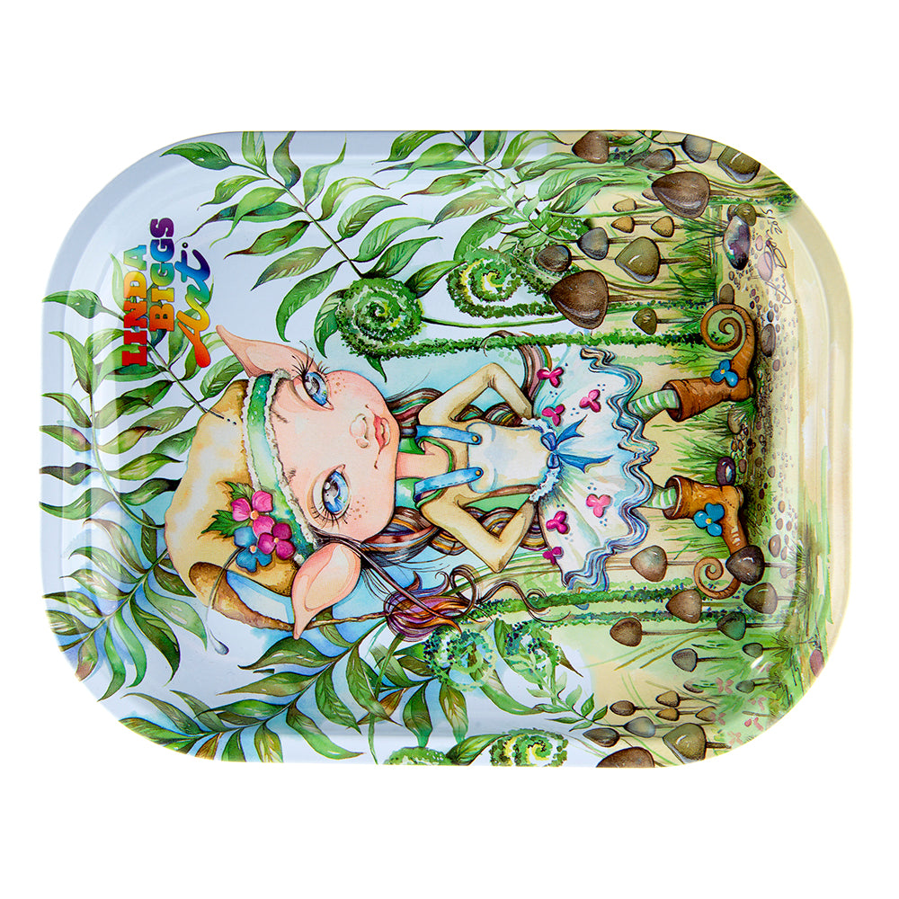 Linda Biggs Rolling Tray - Elf Girl - Small