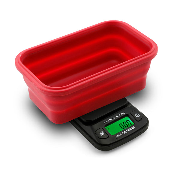 Truweigh Mini Crimson Collapsible Bowl 100G X 0.01G - Black / Red Bowl
