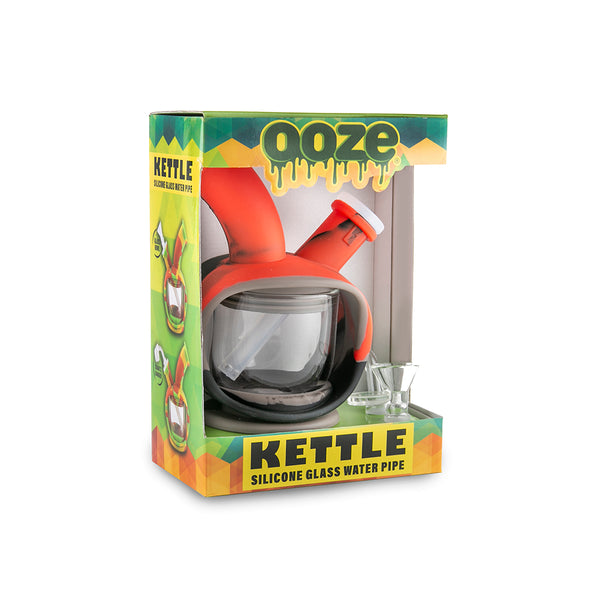 Kettle Silicone Bubbler - Black / Grey / Red