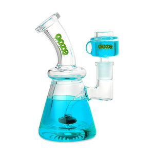 Ooze Glyco Glycerin Chilled Glass Water Pipe - Aqua Teal
