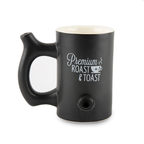 Roast and Toast Ceramic Mug - Matte Black - Large