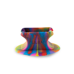 Pulsar Glass Knuckle Bubbler with Tie Dye Silicone Stand