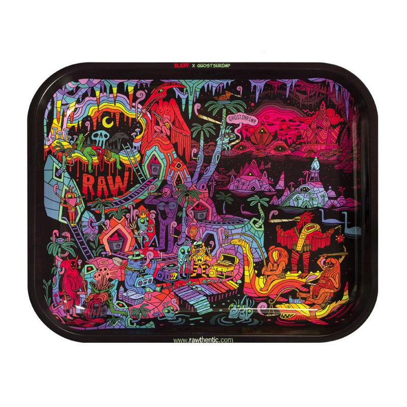 Raw Rolling Tray - Ghost Shrimp 2 - Large