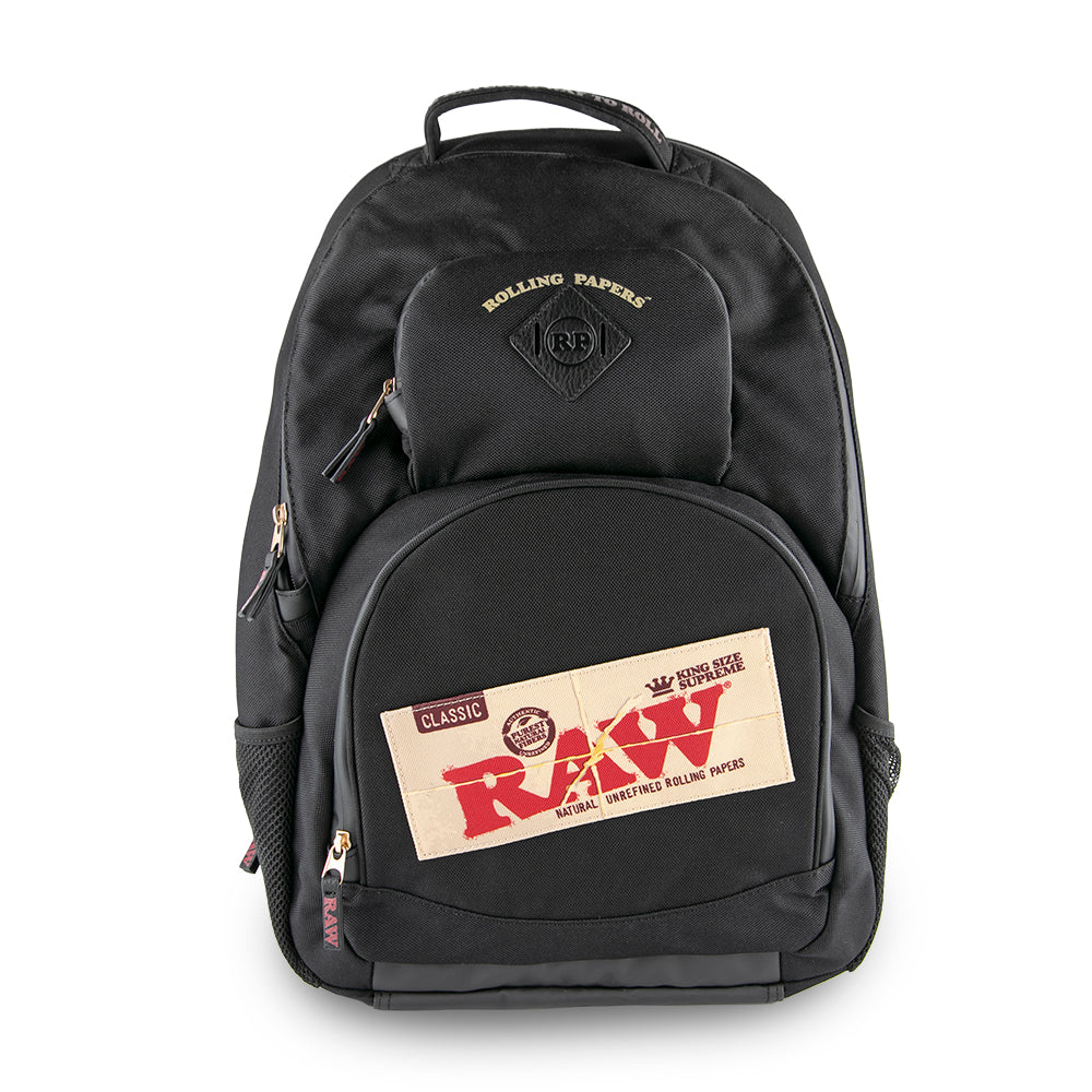 Raw X Rolling Papers Smell Proof Bakepack