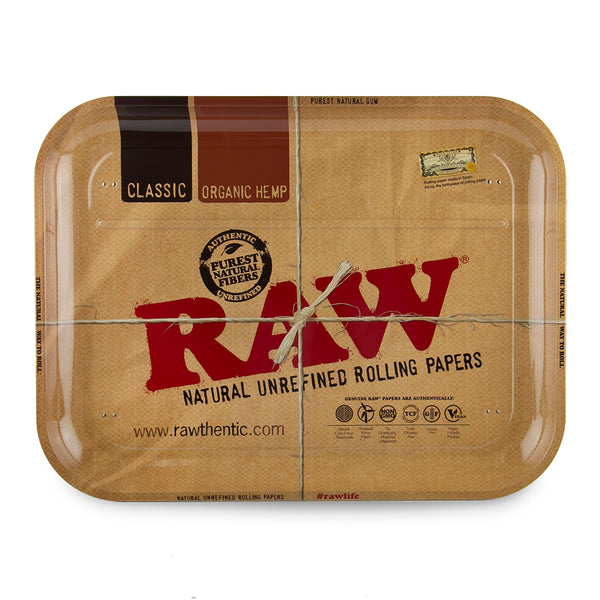 Raw Metal Lap Dinner Tray