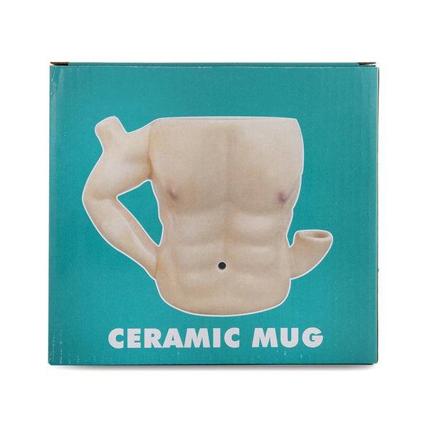 Roast and Toast Ceramic Mug - Six Pack Abs