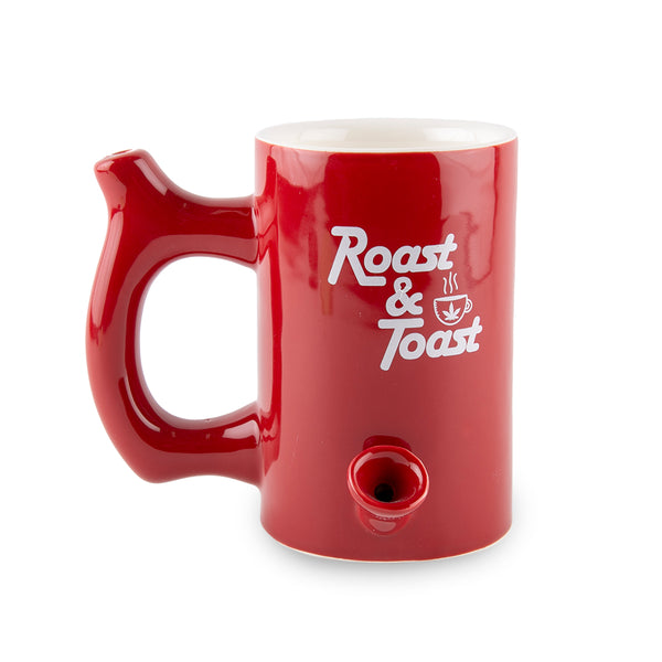 Roast and Toast Ceramic Mug - Red - Large