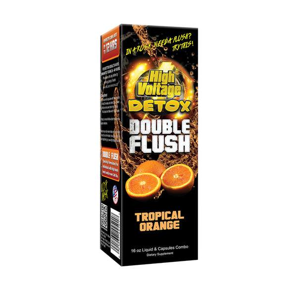 High Voltage Double Flush - Orange