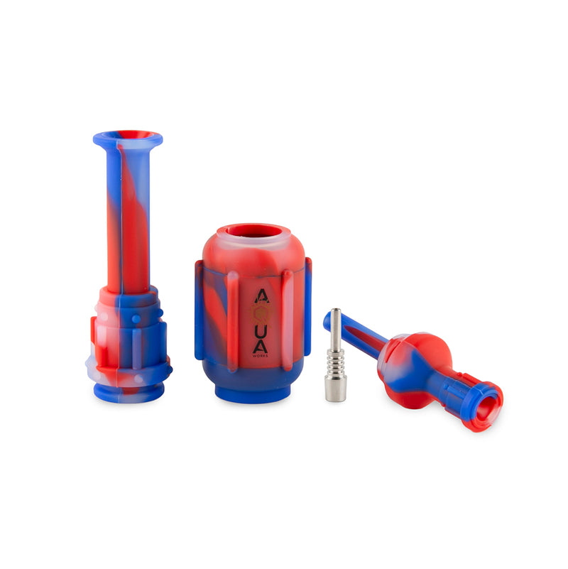 Aqua Silicone Nectar Collector Smoke Accessories