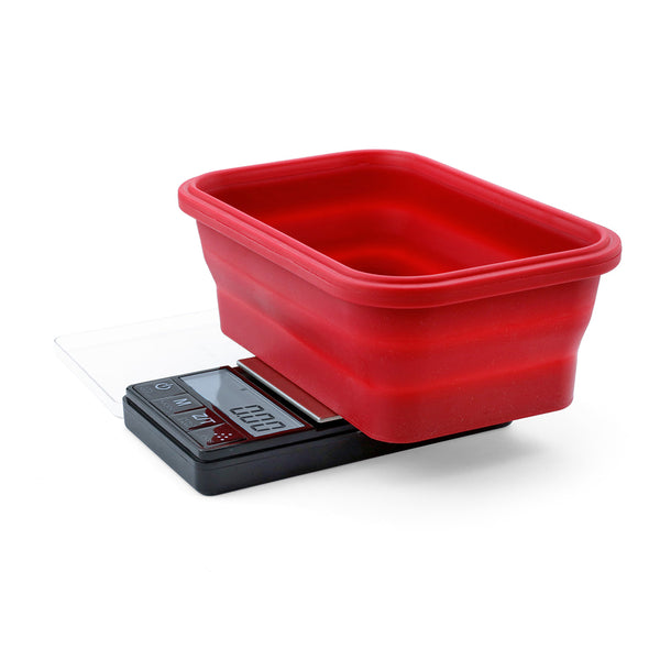 Truweigh Crimson Scale Collapsible Bowl