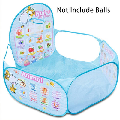 Portable Kids Playpen Folding Fence for Newborn Baby Pool Children's Playpen Carton Game Tent Infant Ball Pool Baby Hurdle Toys