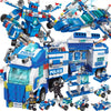 City Police SWAT ROBOT Toy Truck Car Military ARMY Tank Building Blocks Sets Playmobil DIY Brinquedos Kids Bricks Toys