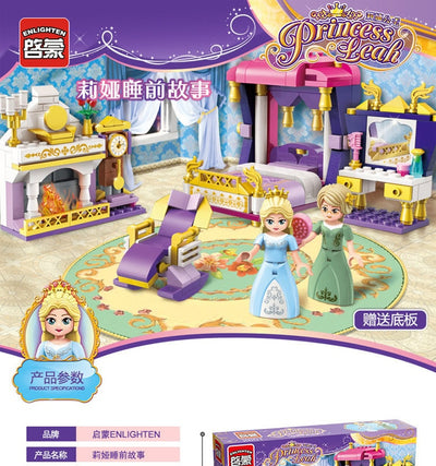 Girl Series Building Blocks Princess Castle Windmill Cruise DIY Brick Blocks Toys Kids Gifts Compatible Friend