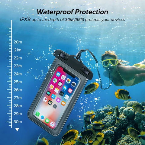 waterproof phone case can go 30m under water