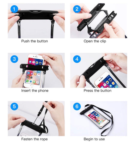 waterproof phone case is easy to use