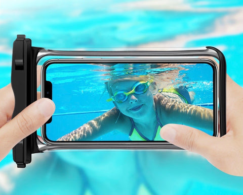 waterproof phone case can take photos under water