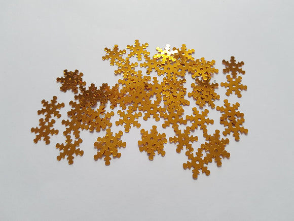 Snowflake Various Colours Available 50 x Craft Sequins//Confetti 13mm
