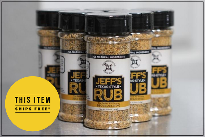 Jeff's Texas-Style Rub (Case of 24 bottles)