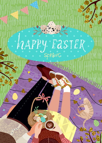 easter time postcard, Happy Easter Day postcard, Happy Easter postcard