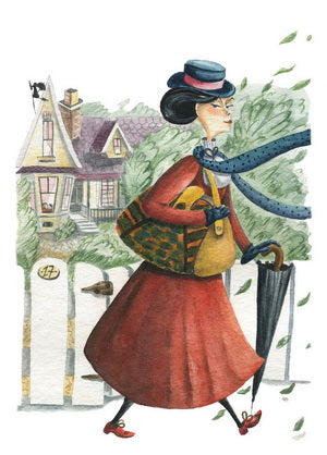 Mary Poppins card, Mary Poppins postcard