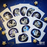 "Set of 12 cards ""Zodiac Signs"""